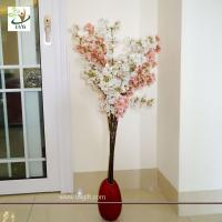 Best UVG Pink plastic tree branches in silk cherry blossom for wedding decoration centerpieces wholesale