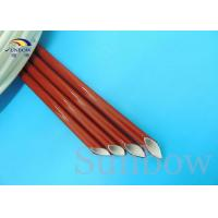 Quality Insulation type Silicone Fiberglass Sleeving / Flame Retardant industrial sleeves for sale
