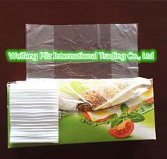 Plastic flat bags food bag for vegetables/fruit HDPE TRANSPORT 240*320mm 8mic