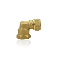 Quality 90 Deg Plumbing  Brass Compression Fittings For Air Conditioning for sale