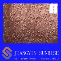 China 2017 three-dimensional Bedroom Wall Faux Leather Upholstery Fabric/ Thickness 0.85mm on sale