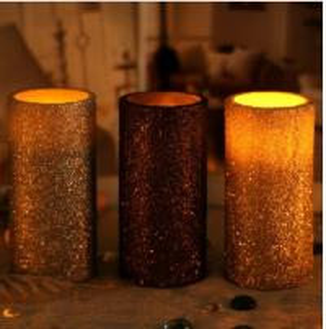 China Glitter led Candles,wedding candles,pink candles,led candles,home decoration candles on sale