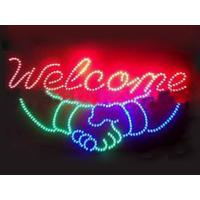 China 560x330mm ABS frame customised  led store sign on sale