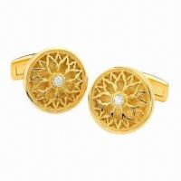 Buy cheap Gold-plated Gothic Cufflinks from wholesalers