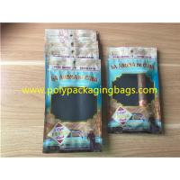 Quality Custom Made Printed Plastic Cigar Bags With Transparent Windows for sale