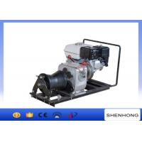 Quality 10KN Belt Driven Steel Cable Powered Pulling Winch With HONDA Gasoline Engine for sale
