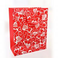 China 150gsm Craft Paper Gift Bags , Offset Printing For Valentine's Day 12.5 X 6 X 17cm on sale