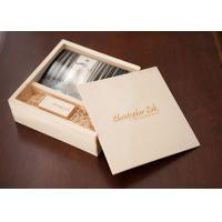 Quality Sliding Lid Wooden Photo Frame Box , Wooden Photo Memory Box With Wooden USB Drive for sale