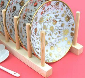Best Wood Flat Plate Drying Rack /Pot Lid Holder wholesale