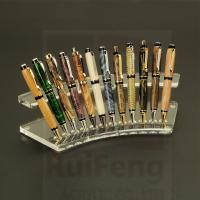 Best Customized Fountain Pen Display Holder,  clear acrylic pen pencil display rack wholesale
