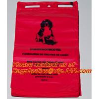 China HDPE/LDPE Plastic Strength Red Medical Biohazard Waste Garbage Bag on roll on sale