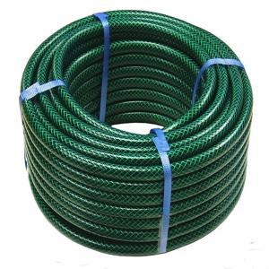 Quality High Strength Flexible Fiber Reinforced Green PVC Garden Hose for sale