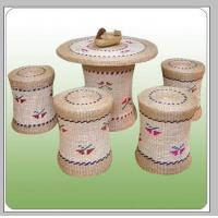 Best straw chair table(1) wholesale