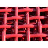 Quality Red Woven Pvc CoatedHigh Carbon Wire Mesh For Mining And Vibrating Screen Machine for sale