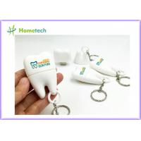 Quality PVC Teeth Shape Customized USB Flash Drive With 1GB~128GB Capacity , White Color for sale
