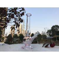 Quality Simple Glass Smoking Pipes , Beaker Bottom Large Tube With Downstel And Bowls for sale