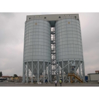 China Detachable Thickness 6mm 100 Ton Vertical Cement Silo for sale