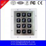Quality Custom Industrial Numeric Keypad , 12 Plastic Keys Metal Keypad With Backlight for sale