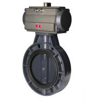 Quality complete SS316 wafer connection pneumatic butterfly valve with actuator for sale