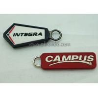 Buy cheap Wholesale Custom Embossed Name Logo Eco Friendly Soft Plastic Rubber PVC Zipper from wholesalers