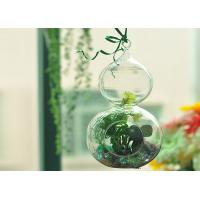 Best Romantic Hanging Crystal Glass Cylinder Candle Holder Home Favor Blown wholesale