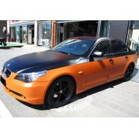 Best Environmentally Chrome Orange / white Car Wrap Vinyl Film Air Bubble Free wholesale