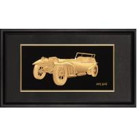 Quality Artistic 3D Pure gold foil crafts , gold leaf music vintage vehicle frame for sale