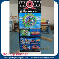 China Deluxe Wide Base Single-screen Roll Up Banner Stands on sale