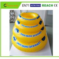 Quality Bright Colors Inflatable Swim Ring High Safety For Pool Entertainment for sale