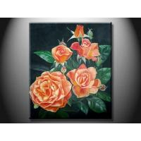 Quality Eco - Friendly Wood Board Landscape Paint Hand made Oil Painting with Flower XSHH107 for sale
