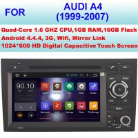 Quality High Pixel Audi DVD Player 1999 - 2007 Mirror Link Audi A4 GPS Navigation System for sale