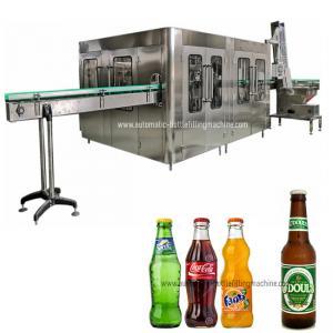 Quality 8000BPH 32 Heads CSD  Glass Bottle Soda Filling Machine for sale
