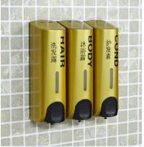 Best High Quality Bathroom Accessories soap dispenser  box soap dispenser wall soap dispenser shampoo bath liquid box golden wholesale