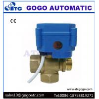 Quality DN20 3/4 3 Way T Flow Mini Electric Actuator Ball Valve , Water Treatment Electrically Operated Ball Valves for sale
