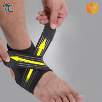 Quality neoprene padded elastic gym basketball ankle strap support brace for sale