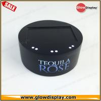 Quality customized wholesale acrylic TEQUILA ROSE wine bottle glorifiers led light base for sale