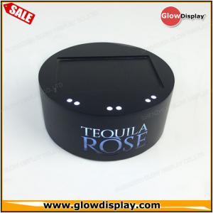 Best customized wholesale acrylic TEQUILA ROSE wine bottle glorifiers led light base wholesale