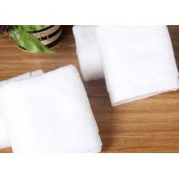 Bulk Customized Hotel Face Towel White 100% Organic Cotton With Logo