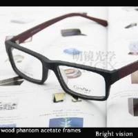 Quality Wood Phantom Acetate Optical Frames for sale
