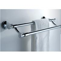 China Safety Stainless Steel Towel Rack Wall Mounted Bathroom Towel Shelves on sale