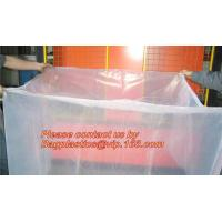 China clear plastic flat bottom bag pallet cover proof dust cover furniture cover on sale