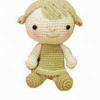 China Crocheted Doll Toy, Made of Cotton, Suitable for Children on sale