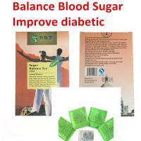 Quality blood glucose herbal tea blood sugar diabetic plaster teabag diabetes treatment balance tea Hypoglycemic products for sale