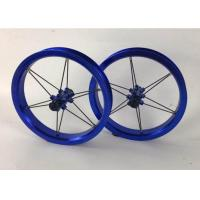 Quality 2020 12inch  Single Wall Kids Balance  Bike Wheelset 75 84 90 95 100 115mm  Child Bicycle Wheels Blue Color for sale
