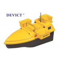 Buy cheap DEVC-203 RC Fishing Bait Boat Yellow ABS Plastic Wave Resistance from wholesalers