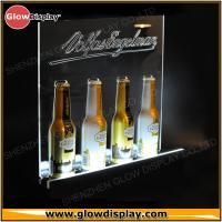 China high quality custom acrylic beer wine liquor bottle display with led light on sale