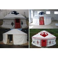 Quality Sunscreen Polyester Canvas Yurt Style Tent Warm For Travel Accommodation for sale