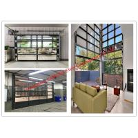 China Aluminum Frame Rolling Door Customized Transparent Door With Tempered Glass Panel on sale