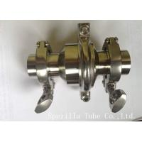 Buy ASTM A270 Stainless Steel Sanitary Valves With Tight Tolerances at wholesale prices