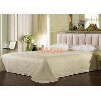 Quality Colorful Ecological Cotton Hotel Flat  Sheet Queen Size With  Jacquard Weave for sale